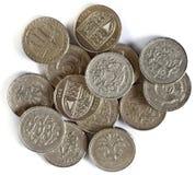Britse Ponden muntstukken Stock Fotografie