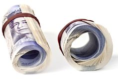 Britse ponden nota's stock afbeeldingen