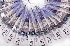 Britse ponden nota's, stock fotografie