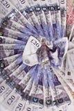 Britse ponden nota's royalty-vrije stock afbeeldingen