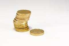 Britse pondmuntstukken royalty-vrije stock afbeelding