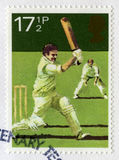 Britse Postzegel die een Veenmolscène afschilderen Stock Afbeelding