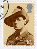 Britse Postzegel die het Eeuwfeest van Churchill ` s herdenken Stock Foto's