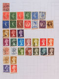Britse postzegels Stock Afbeelding