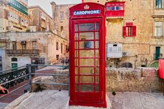 Britse Rode Telefooncel in Malta Royalty-vrije Stock Afbeelding