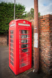 Britse Rode Traditionele Telefooncel Stock Foto's