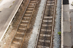 Britse spoorweg/spoorwegsporen Stock Foto's