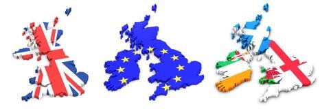 Britse staten en van Ierland Vlaggen Stock Afbeeldingen