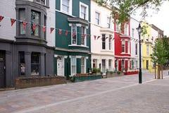 Britse straat Royalty-vrije Stock Afbeeldingen