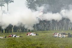 Britse tegenaanval tegengehouden doden Stock Foto