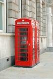Britse telefooncellen Stock Afbeeldingen