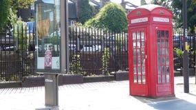 Britse Telephonebooth Stock Fotografie