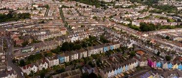Britse terrasvormige huizen in het UK Stock Fotografie