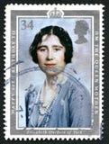 Britse van de koningin-moeder negentigste Verjaardag Postzegel Stock Fotografie