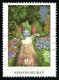 Britse van de Sissinghursttuin Postzegel Stock Afbeelding