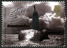 Britse van de voorhoedeklasse Onderzeese Postzegel Royalty-vrije Stock Afbeeldingen
