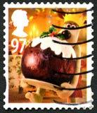 Britse van Gromitkerstmis Postzegel Stock Fotografie