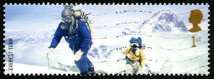 Britse van het Everestteam Postzegel Stock Foto's