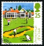Britse van het Muirfield achttiende Gat Postzegel Royalty-vrije Stock Foto