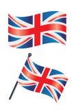 Britse vlag Stock Afbeeldingen