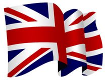 Britse vlag Royalty-vrije Stock Fotografie