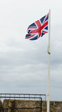 Britse vlag die boven Fort St Catherine, St George Eiland, de Bermudas vliegen Royalty-vrije Stock Fotografie