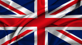 Britse vlag - Groot-Brittannië Stock Foto's