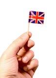Britse vlag (het knippen weg) Stock Foto