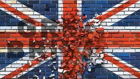 Britse vlag met gevolgen stock video
