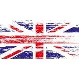 Britse vlag met grunge op een witte achtergrond Vector illustratie Stock Afbeeldingen