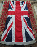 Britse vlag met papavers in Bristol royalty-vrije stock fotografie