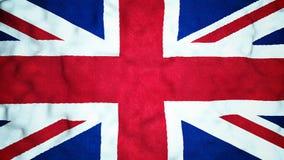 Britse Vlag Naadloze Videolijn stock videobeelden