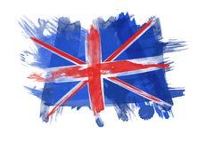 Britse Vlag op witte Achtergrond Royalty-vrije Stock Afbeeldingen
