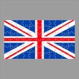 Britse vlag van raadsels op grijs royalty-vrije illustratie