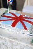 Britse vlagcake Royalty-vrije Stock Afbeelding