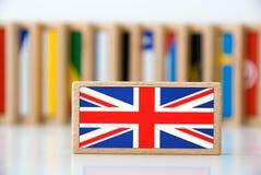 De domino van de vlag Stock Foto's