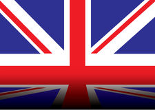 Britse vlagschaduw Stock Foto's