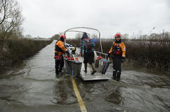 2014 Britse Vloed Muchelney Royalty-vrije Stock Afbeelding