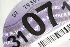 Britse wegenbelastingschijf Stock Foto's