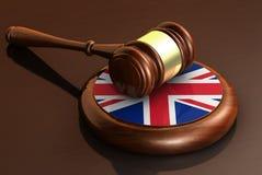 Britse Wet en Britse Rechtvaardigheid Concept Stock Foto