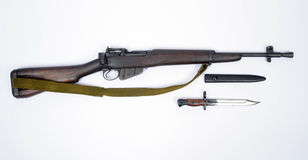 Britse Wilderniskarabijn Lee Enfield No geweer 5 Stock Foto