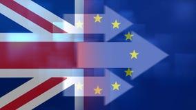 Britt och EU-flaggavideo arkivfilmer