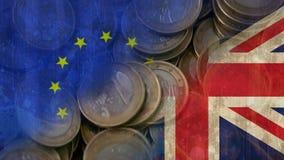 Britt och EU-flaggavideo lager videofilmer
