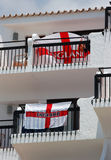 Britt på den St George för engelska för skärm för packeferie flaggan Royaltyfria Foton