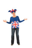 Brittain sports fan. Sports fan from the united kingdom Royalty Free Stock Image