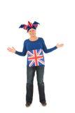 Brittain sports fan. Sports fan from the united kingdom Royalty Free Stock Image
