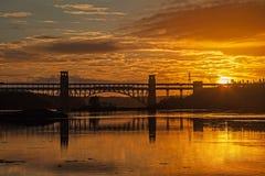 Brittania Bridge Stock Images