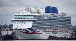 Brittannia im Dock stockfotografie