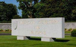 Brittany American Cemetery och minnesmärke Arkivbilder