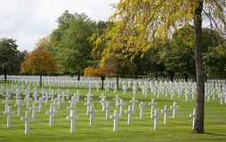 The Brittany American Cemetery Royalty Free Stock Images